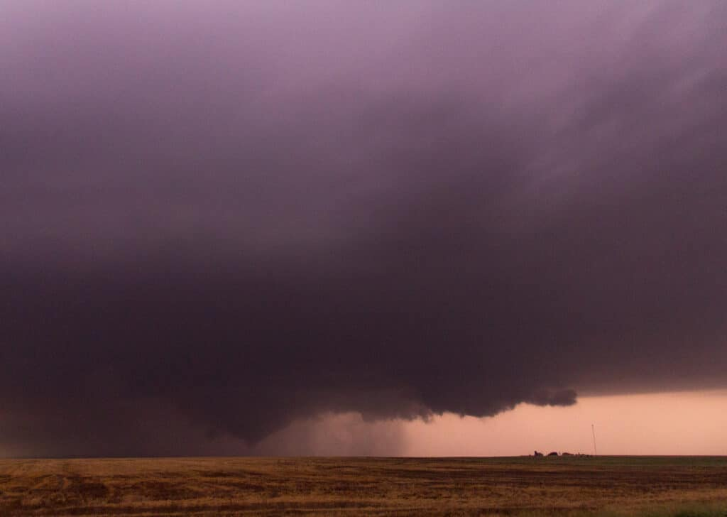 Tornado near LaCrosse Kansas