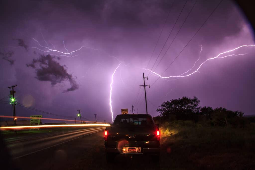Truck and Lightning