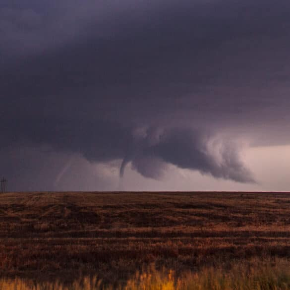 Two night time tornadoes near LaCrosse, KS on May 25, 2012