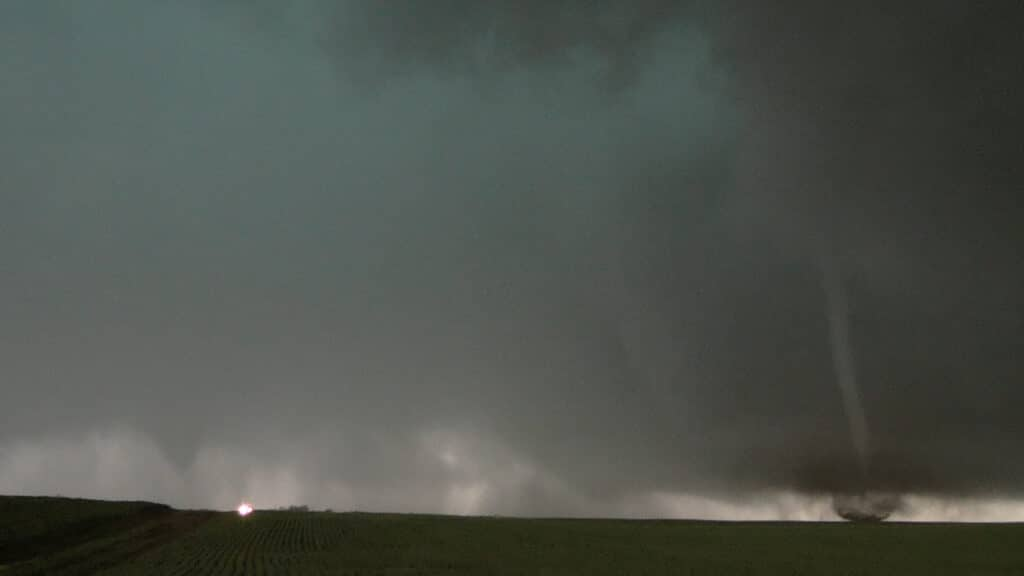 Two tornadoes coming at us