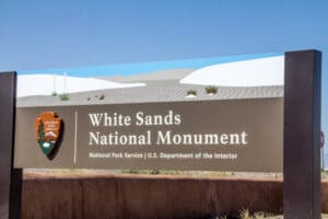 White Sands National Monument Sign