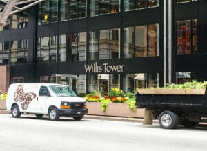 Outside the Willis Tower