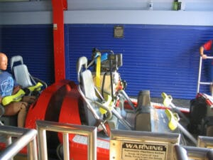 Camera and test dummy on Millennium Force