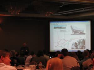 David Hoadley speaking about covered wagons in the plains