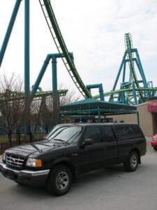 Truck in front of Raptor