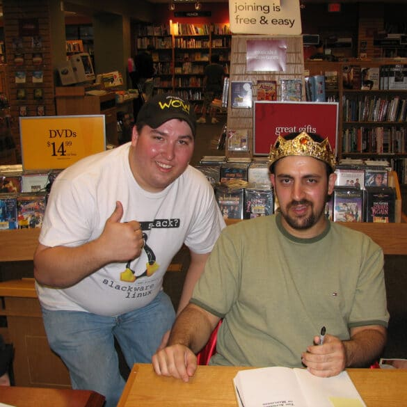 Me and Maddox at the Maddox Booksigning in Ann Arbor, MI
