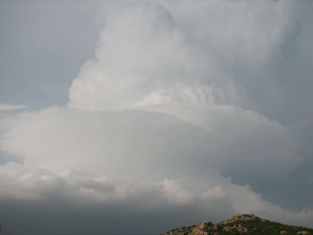 Supercell over the Wichita Mountains