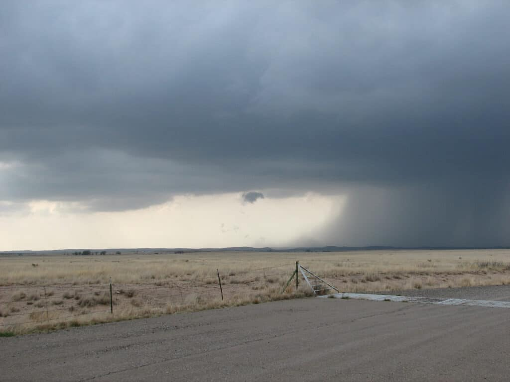 Supercell west of Roswell