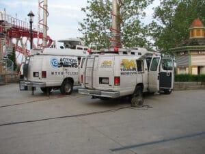 Live vans from Toledo Stations