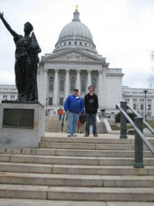 Me and Erik in front of the Wisconsin Capital