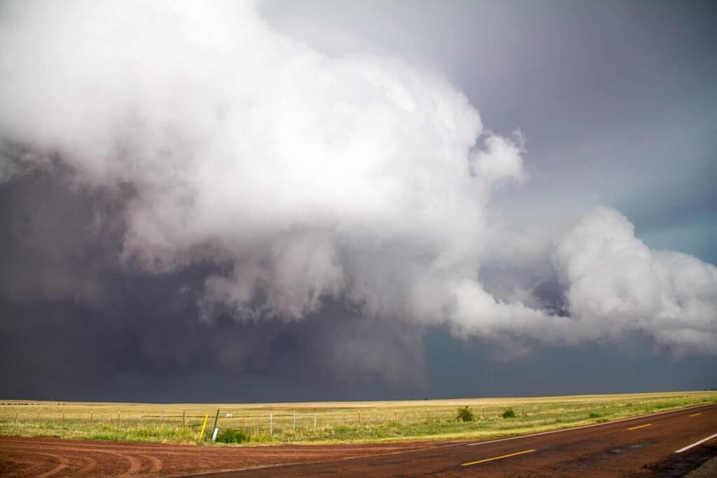 First, weak tornado