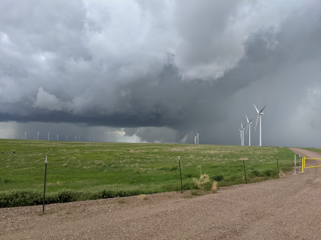 One of many wall clouds witnessed May 23rd in Colorado